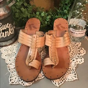 """🌺Report Shoes """" Farren"""" Leather heeled Sandals 9"""